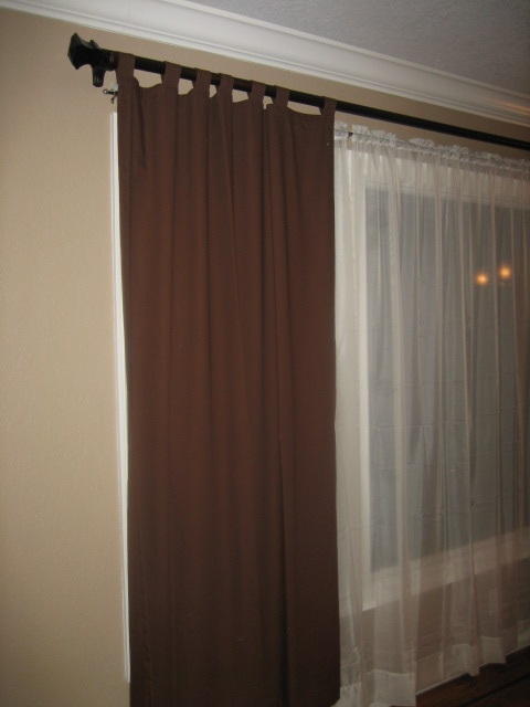 curtain rod installation